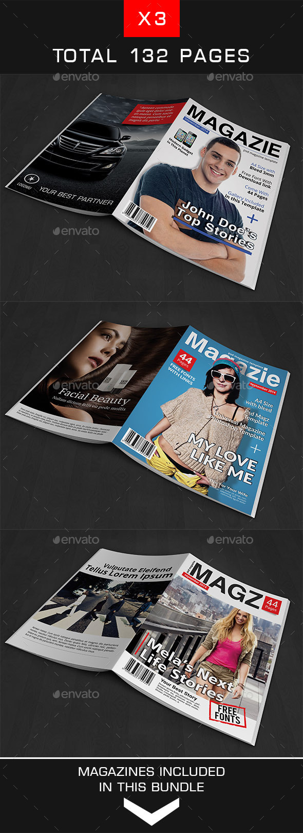 GraphicRiver A4 Magazine Bundle Vol 2 9410159