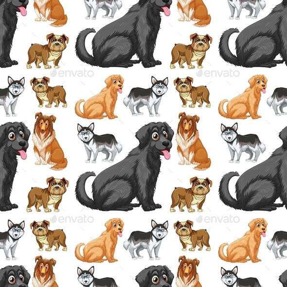 GraphicRiver Seamless Dog 9410381