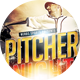 Pitcher Night Baseball Sport Flyer - GraphicRiver Item for Sale
