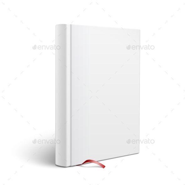 GraphicRiver Blank Vertical Book with Bookmark Template 9410515