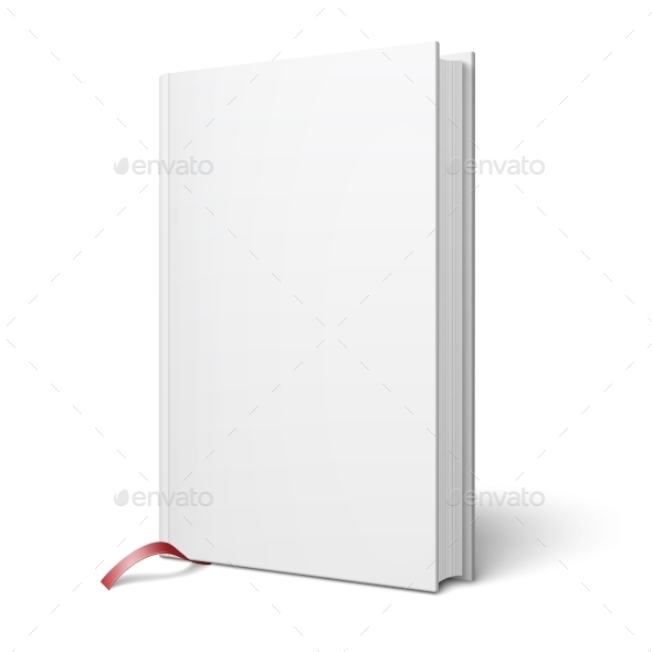 GraphicRiver Blank Vertical Book with Bookmark Template 9410518