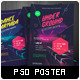 Futuristic Indietronica Music Event Poster - GraphicRiver Item for Sale