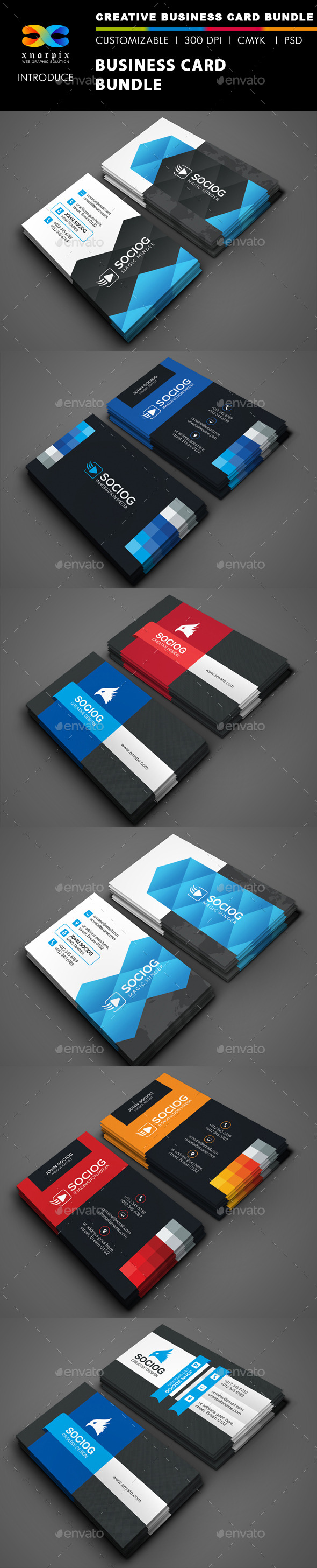 GraphicRiver Business Card Bundle 3 in 1-Vol 44 9411025