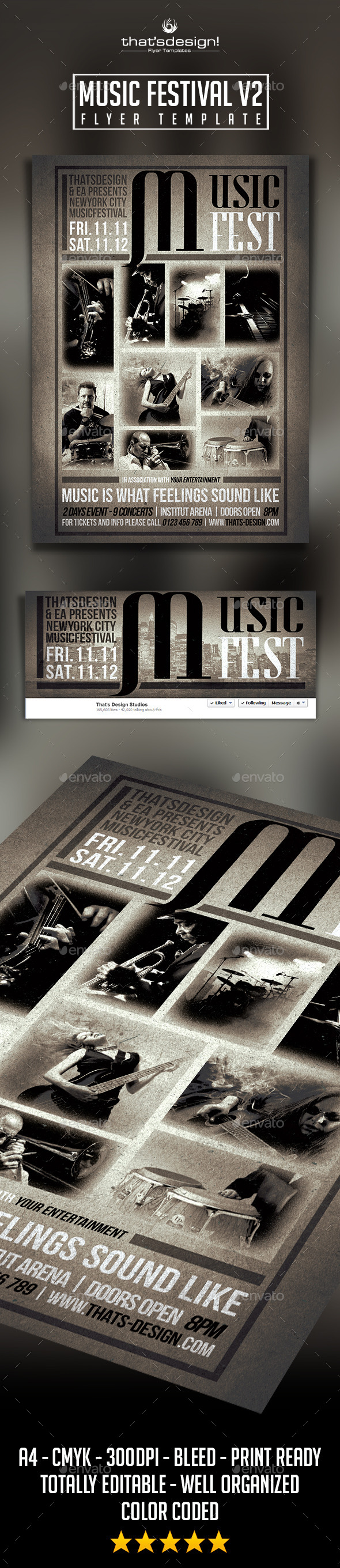 GraphicRiver Music Festival Flyer Template V2 9411085