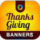 Thanksgiving Web Banner Design - GraphicRiver Item for Sale