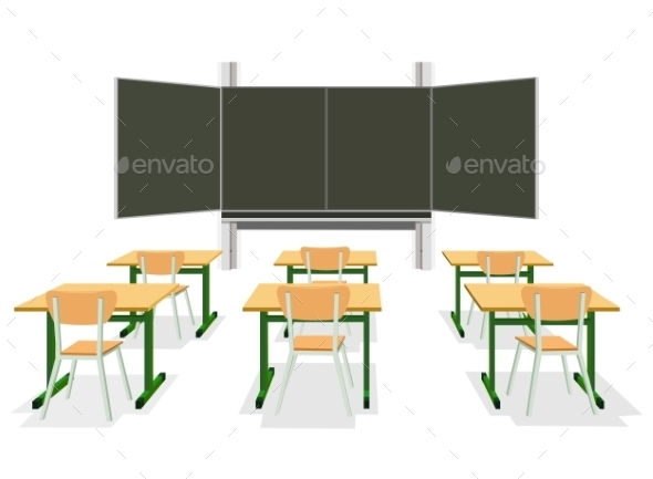 GraphicRiver Vector Illustration of an Empty Classroom 9411219
