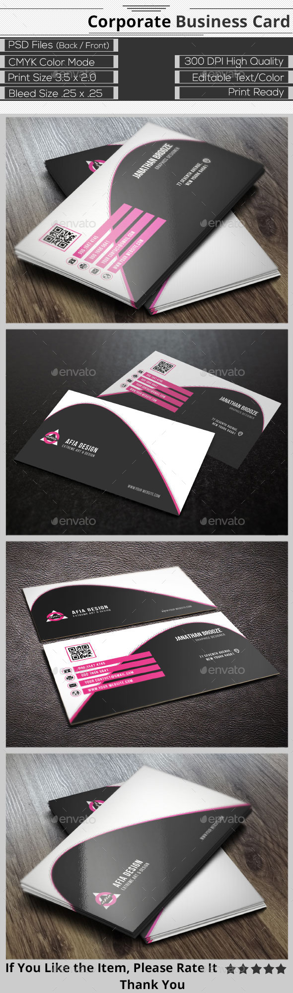 GraphicRiver Clean Corporate Business Card 9411330