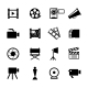 Simple Black and White Video Icon Set - GraphicRiver Item for Sale