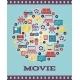 I Love Movies Concept Graphic Designs - GraphicRiver Item for Sale