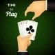 Cartooned Hand Holding Four Aces Cards - GraphicRiver Item for Sale