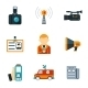 Assorted Journalism Flat Icons - GraphicRiver Item for Sale