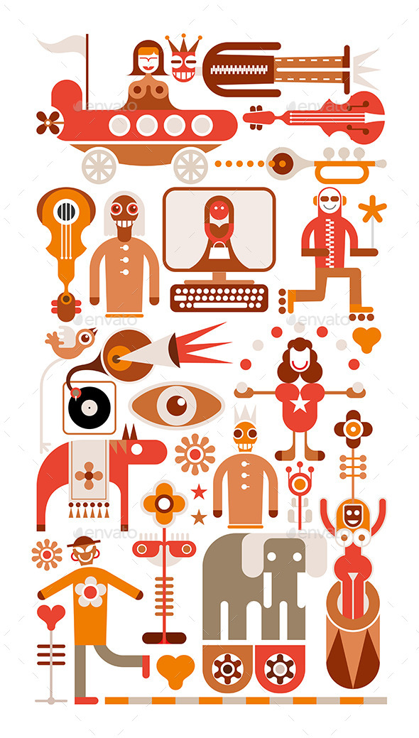 GraphicRiver Circus Show Vector Illustration 9411734