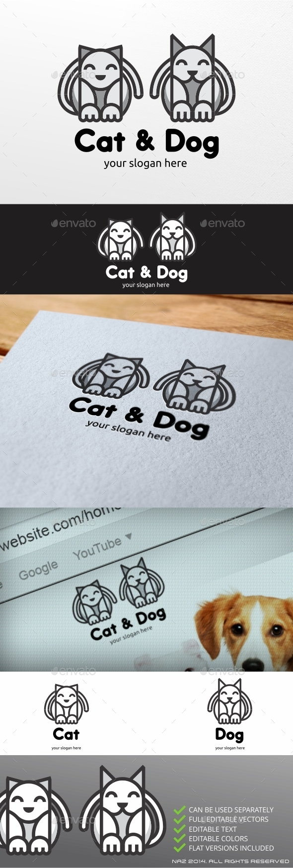 GraphicRiver Cat and Dog Logo 9411786