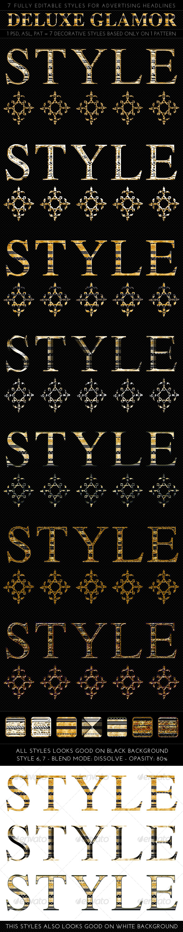Deluxe Glamor Styles - Text Effects Styles