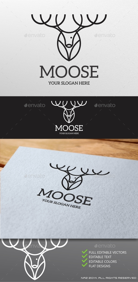GraphicRiver Moose Logo 9411840