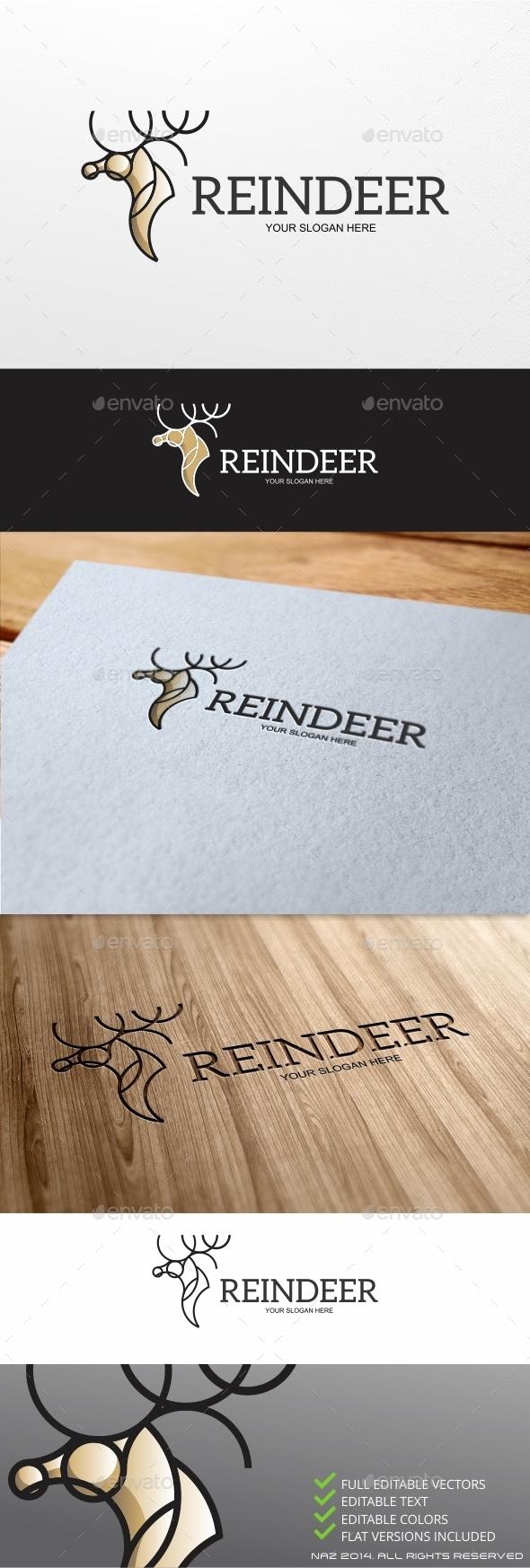 GraphicRiver Reindeer Logo 9411851