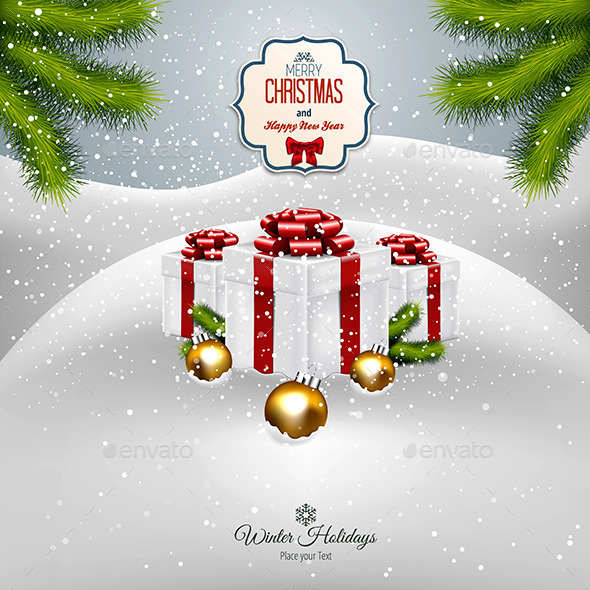 GraphicRiver Christmas Background 9411854