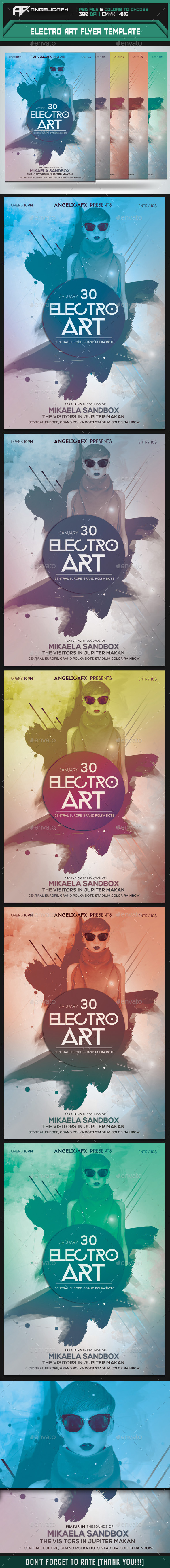 GraphicRiver Electro Art Flyer Template 9411856