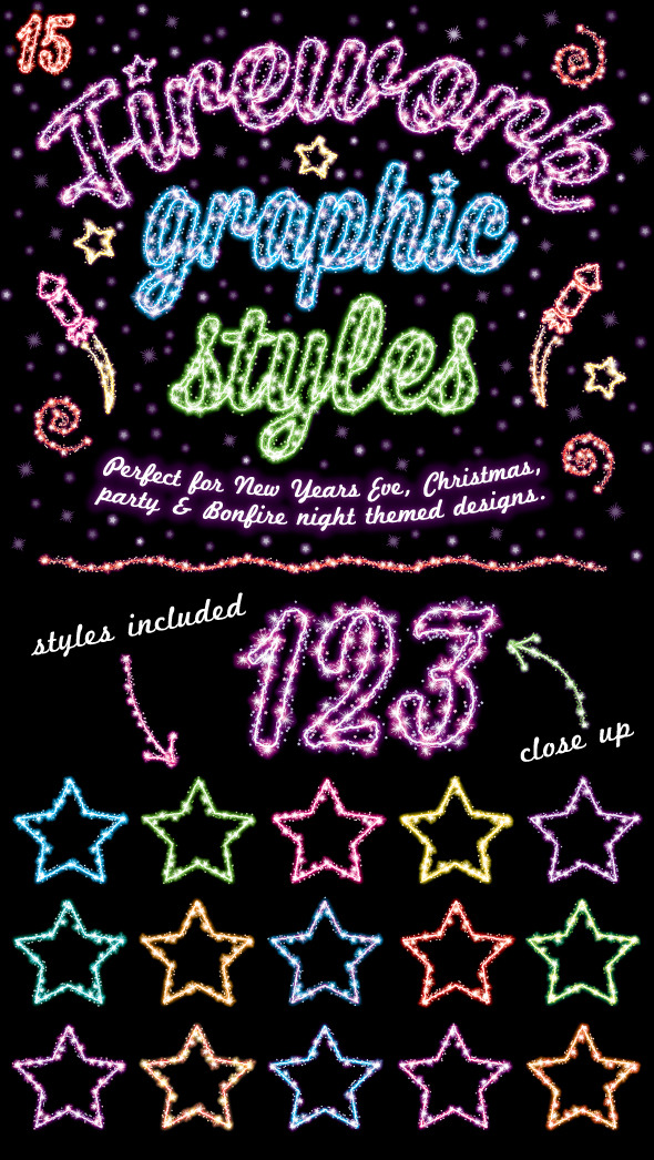 GraphicRiver Firework Graphic Styles 9411863