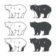 Set of Six Bear Silhouette - GraphicRiver Item for Sale