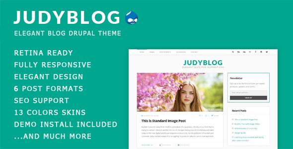 JudyBlog - Elegant Blog Drupal Theme