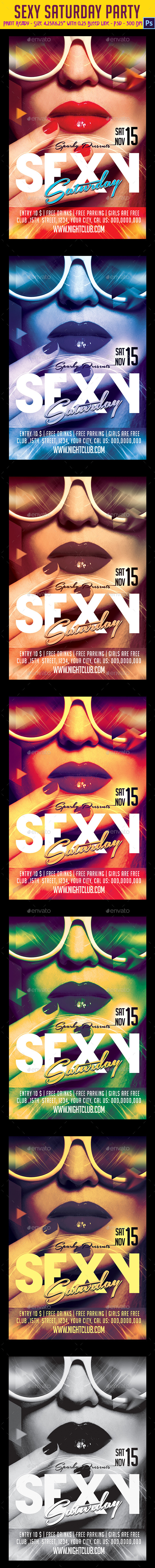 Sexy Saturdays Party Flyer