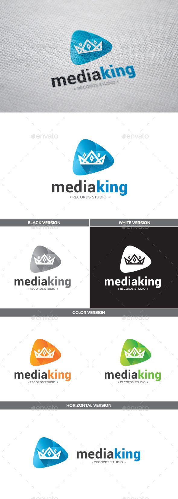 GraphicRiver MediaKing Logo 9411983