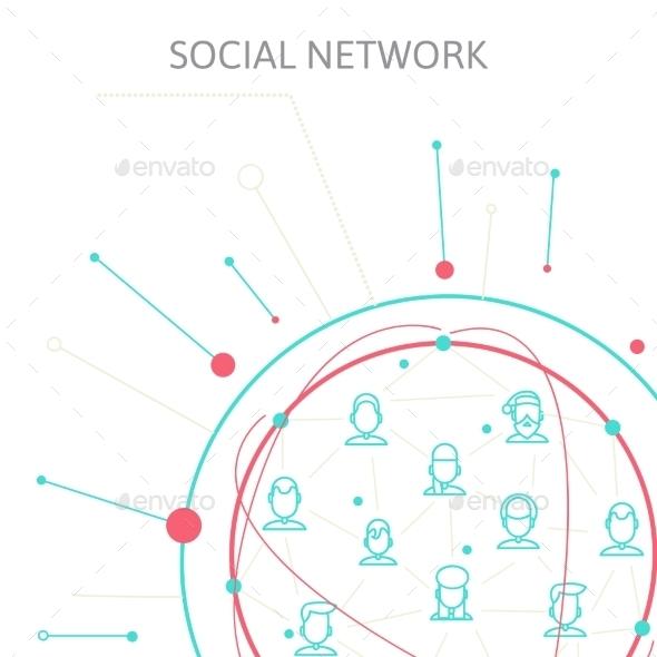 GraphicRiver Social Media Circles Network Illustration Vector 9412008