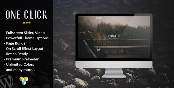 ThemeForest One Click Parallax One Page Wordpress Theme 9163066