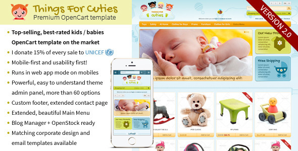 ThingsforCuties - the OpenCart Baby & Kids Template - OpenCart eCommerce