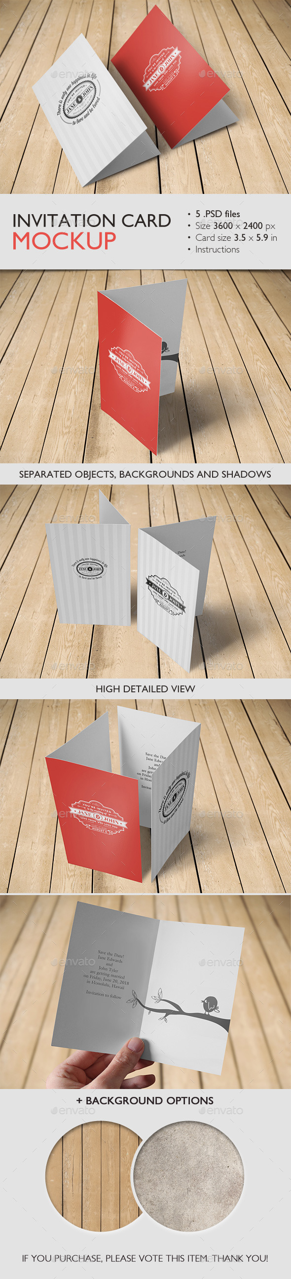 GraphicRiver Invitation Card Mockup 9412084