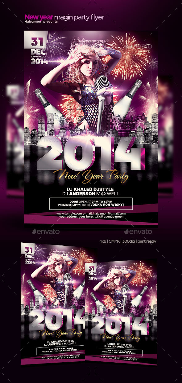 New Year Magic Party Flyer - Clubs & Parties Events