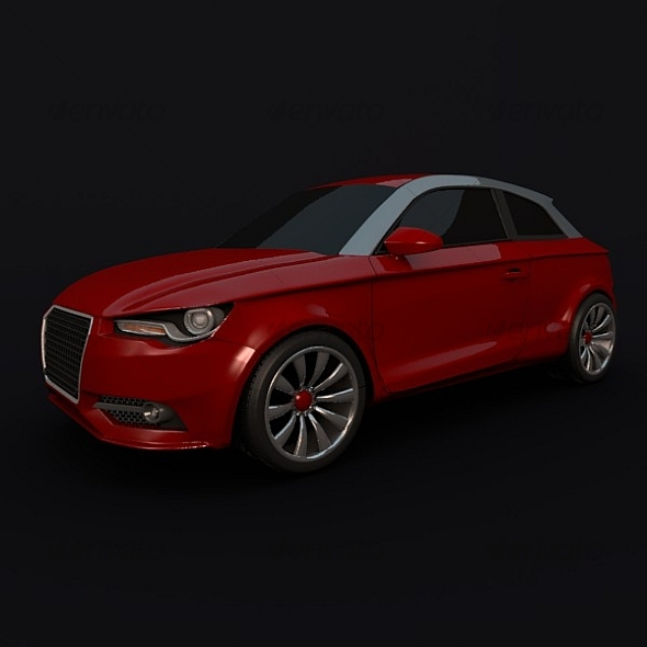 Audi A1 compact car - 3DOcean Item for Sale