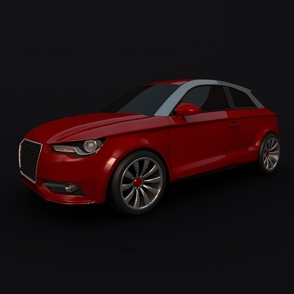 Audi A1 compact car - 3DOcean Item for Sale