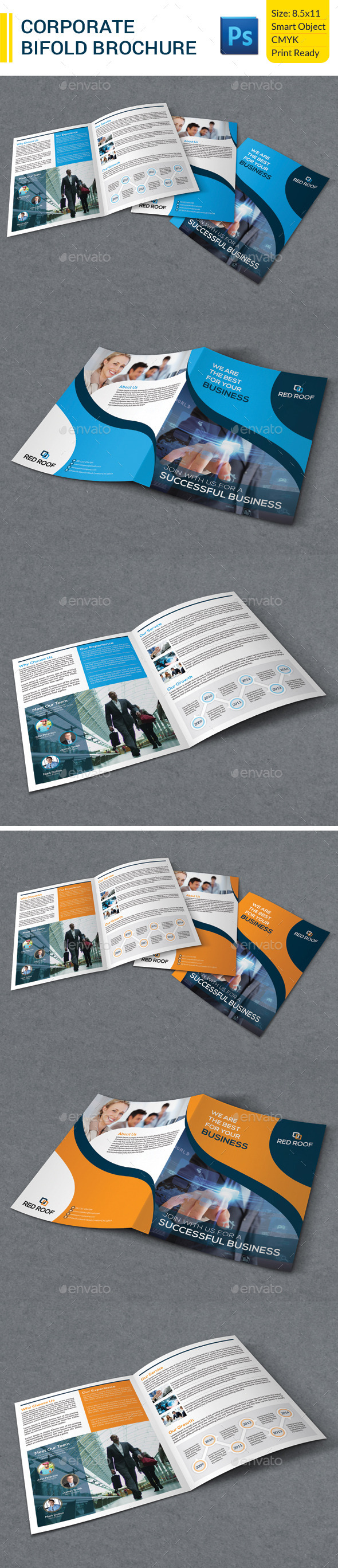 GraphicRiver Corporate Business Bifold Brochure 9412087