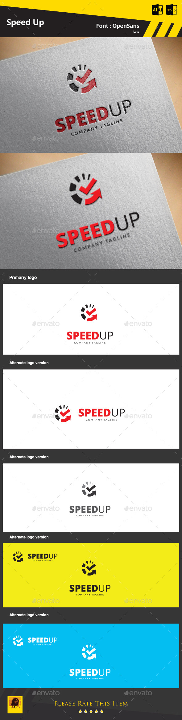 GraphicRiver Speed Up Logo Template 9412161