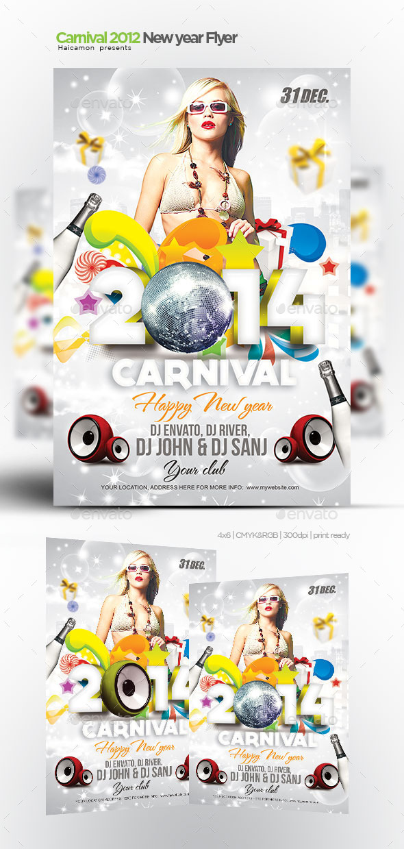 Carnival 2012 New Year Flyer - Clubs & Parties Events