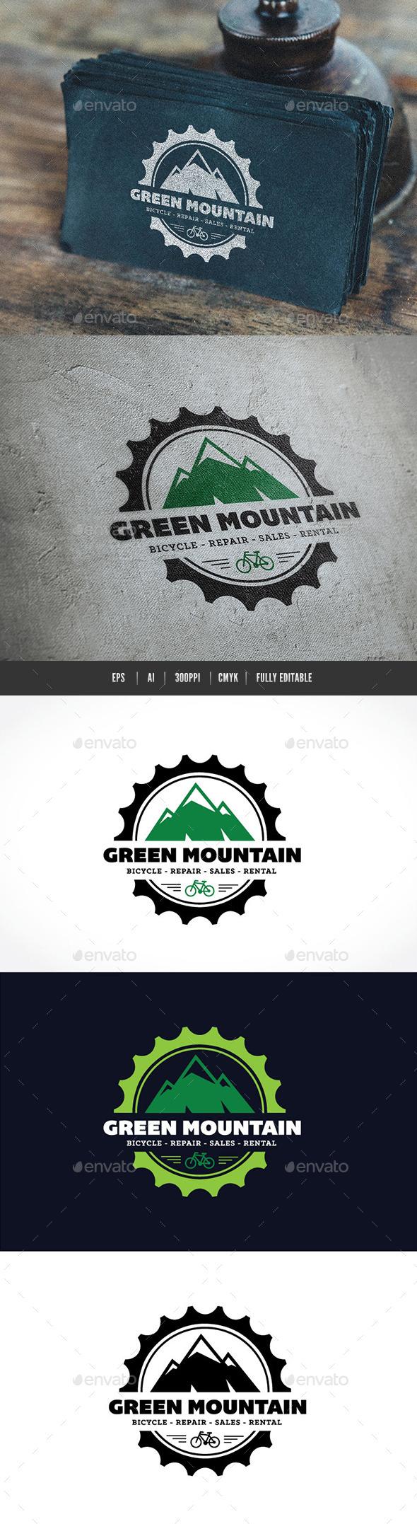 GraphicRiver Green Mountain Logo 9412252