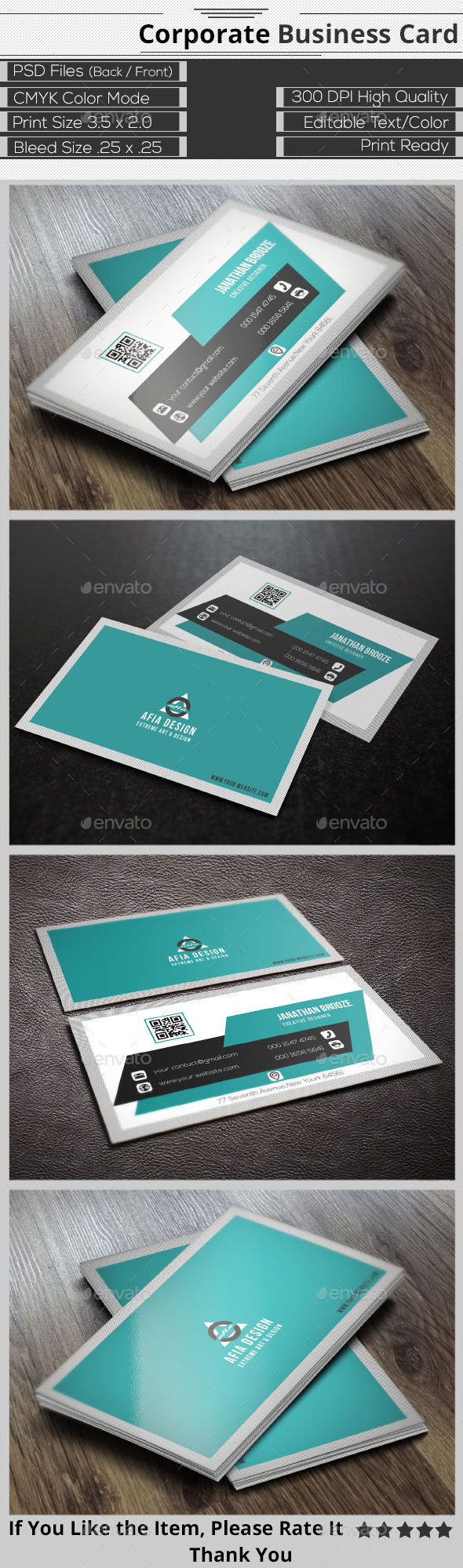 GraphicRiver Clean Corporate Business Card 9412280