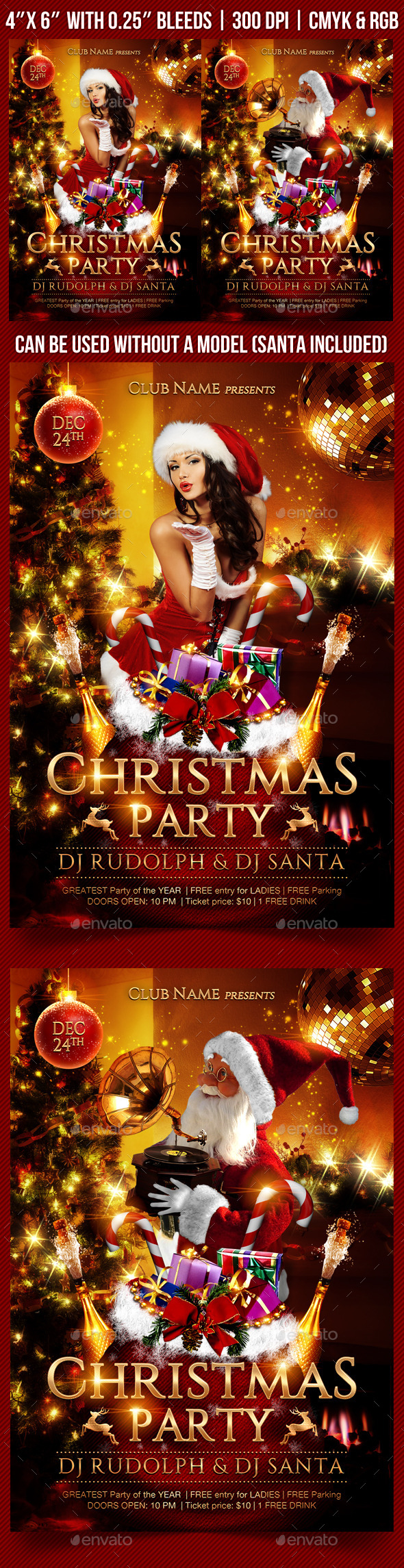 GraphicRiver Christmas Party Flyer Template 9412282