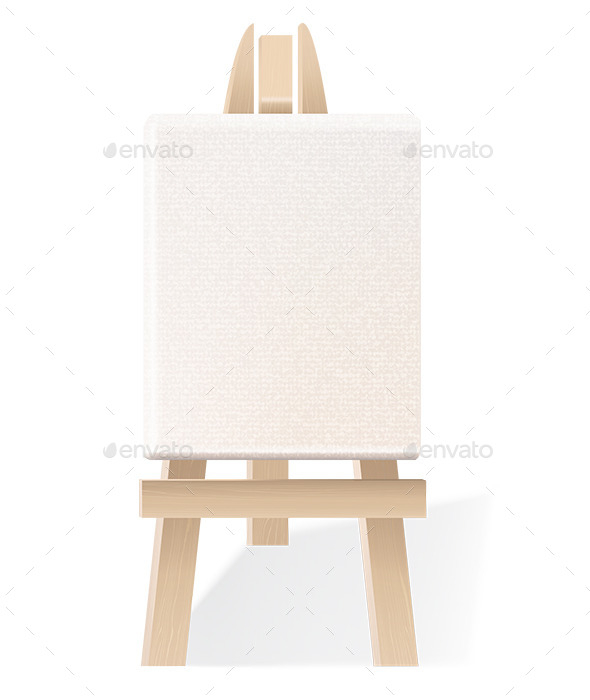 GraphicRiver Blank Canvas on Wooden Easel 9412356