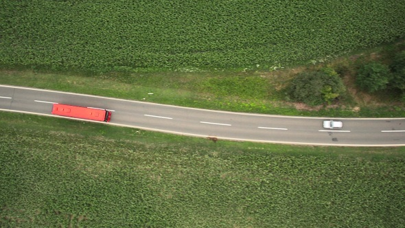 VideoHive Bus Driving on Country Road 9412357