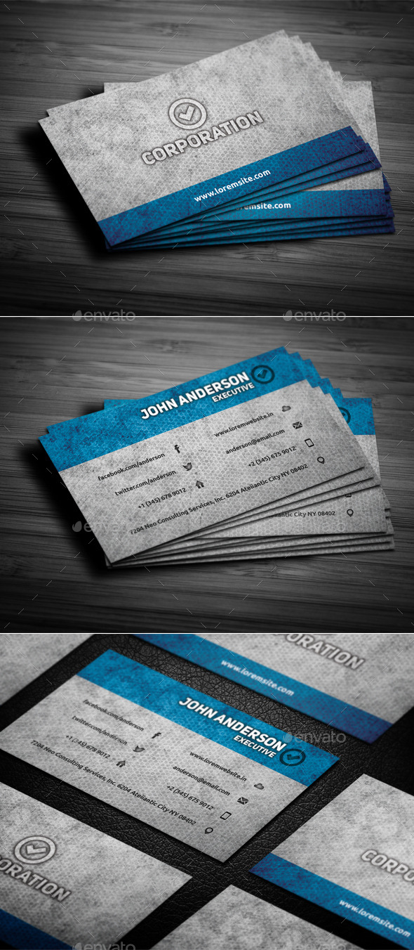 GraphicRiver Grunge Business Card 9412448