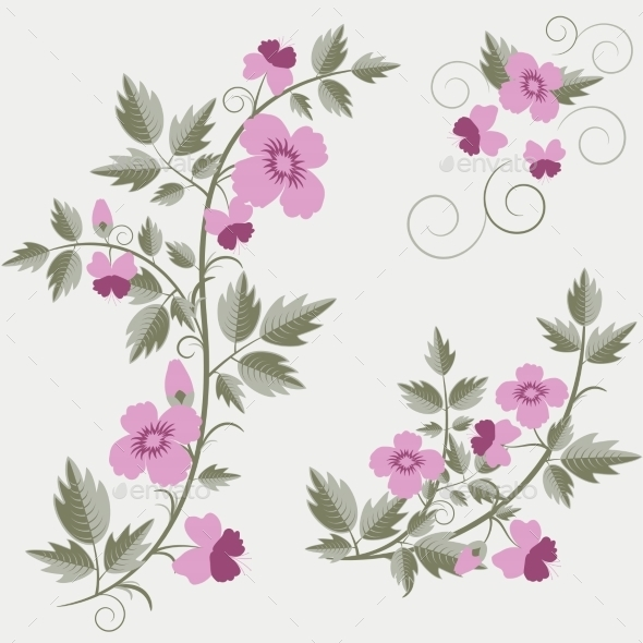 GraphicRiver Floral Elements 9412463