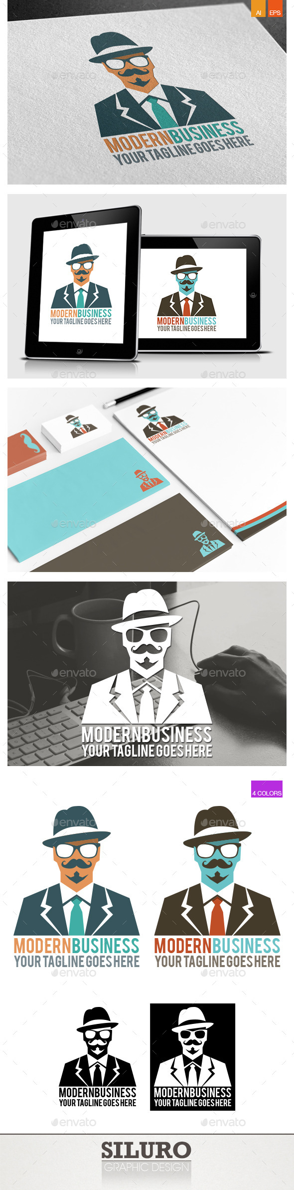 GraphicRiver Modern Business II Logo 9412531