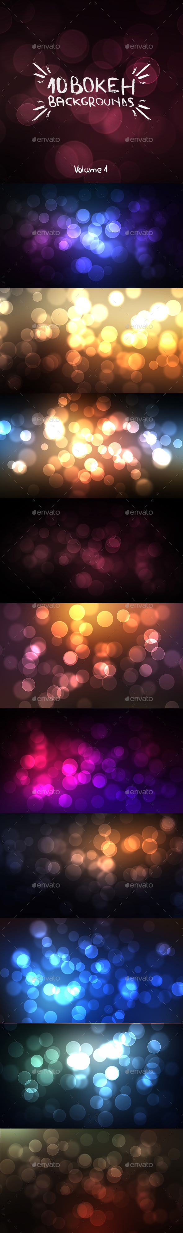 GraphicRiver 10 Bokeh Backgrounds Volume 1 9412569