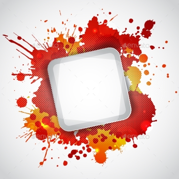 GraphicRiver Modern White Frame with Red Blots 9412575