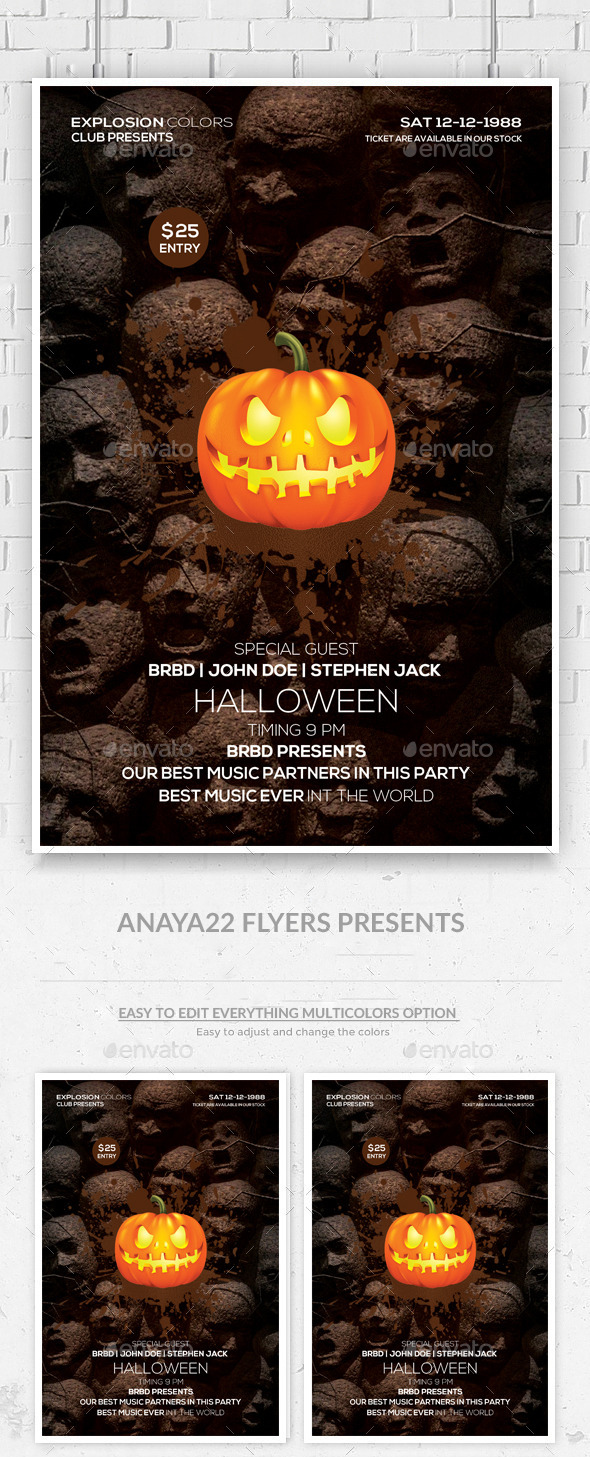 GraphicRiver Halloween Party Flyer Template 9361530