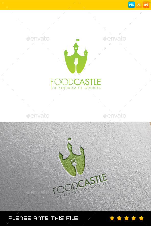 GraphicRiver Food Castle Logo 9378545