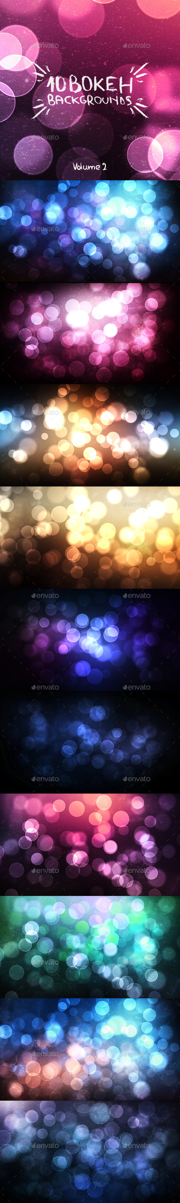 GraphicRiver 10 Bokeh Backgrounds Volume 2 9412590